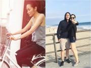 Làng sao - Làm dâu nhà giàu, Hà Tăng vẫn giản dị đạp xe đi chợ