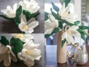 Nhà đẹp - Nhà sang chảnh bày hoa mộc lan giấy