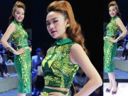 Thời trang - Minh Hằng mặc váy họa tiết nổi bật