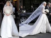 Váy cưới tiền tỷ của Nicky Hilton bị vướng vào xe Bentley