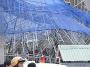 Tin tức - Vụ sập giàn giáo công trình 17 tầng: Do mưa to gió lớn?