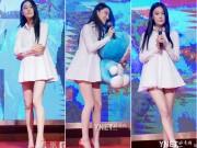 Trương Hinh Dư diện váy ngắn cũn cỡn