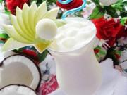 Bếp Eva - Sinh tố dừa tươi mát cuối tuần