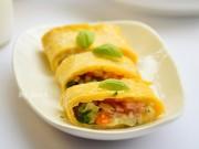 Bếp Eva - Đổi vị bữa sáng với trứng cuộn phô mai