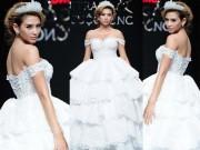 Thời trang - Võ Hoàng Yến vòng 1 tràn trề với váy cưới