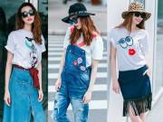 Thời trang - Thích thú với thời trang jeans tươi trẻ của Khánh My