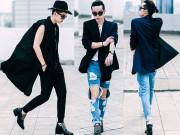 Thời trang - Mẫu nam lưỡng tính Việt thăng hoa trên đường phố