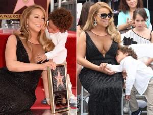 """Con trai Mariah Carey """"náo loạn"""" lễ gắn sao của mẹ"""