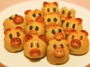 Bếp Eva - Cách làm bánh Trung thu nướng hình heo cho bé