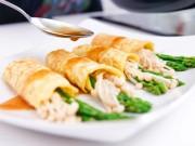 Bếp Eva - Trứng cuộn nấm, măng tây ngon ngất ngây