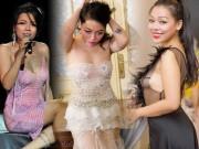 """Thời trang - """"Đau mắt"""" vì thời trang phóng khoáng của ca sĩ Hà Linh"""