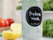 Nhà đẹp - Tự chế dung dịch giấm chanh rửa sạch rau phun hóa chất
