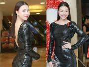 Làng sao - Trà Ngọc Hằng gợi cảm với váy ôm sát dự sự kiện