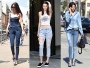 """Thời trang - Mặc jeans đẹp như chân dài """"hái"""" ra tiền Kendall Jenner"""