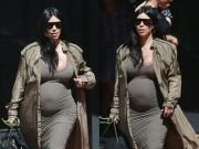 Làng sao - Kim Kardashian khoe thân hình đẫy đà với váy mỏng bó sát