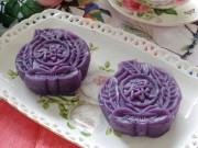 Bếp Eva - Bánh Trung thu dẻo khoai lang tím đẹp mắt