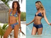 Thời trang - Thu này, rộn ràng bãi biển với bikini denim