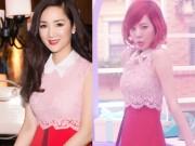 """Thời trang - Giáng My """"đụng"""" váy gần 100 triệu với ngọc nữ Hàn"""