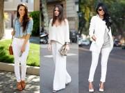 Thời trang - Quần trắng: chiếc quần 'vạn năng' của phái đẹp