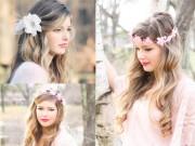 Làm đẹp - Muôn kiểu tóc cô dâu cài hoa trong mùa cưới lãng mạn