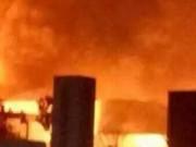 Tin tức - Lại nổ nhà máy hóa chất TQ, khói lửa rực trời