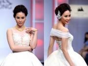 """Bạn gái Trương Nam Thành  """" lẻ bóng """"  mặc váy cưới"""