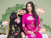 Làng sao - Thùy Dung, Huỳnh Bích Phương khoe sắc trong áo dài Đức Hùng