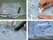Thời trang - 8 mẹo biến tấu quần jeans tiện lợi ngay tại nhà