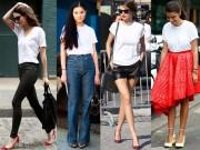 Đẹp hơn mỗi ngày với 5 kiểu áo phông trắng