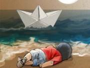 """Làm mẹ - Xúc động hình ảnh """"Thiên thần ngủ say bên bờ biển"""""""