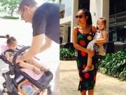 Làng sao - Chồng Đoan Trang chăm sóc con gái chu đáo