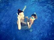 Làng sao - Hà Hồ đi bơi cùng con trai trong ngày nghỉ cuối tuần