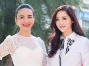 """Làng sao - HH Giáng My như """"gái đôi mươi"""" bên HH Ngọc Diễm"""