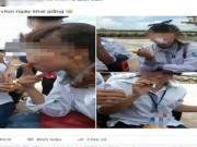 Tin tức - Xôn xao nữ sinh hút thuốc ngày khai giảng năm học mới