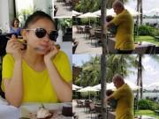 Làng sao - Thu Minh hạnh phúc nhìn chồng cưng nựng con trai