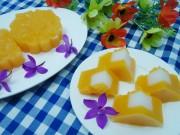 Bánh Trung thu rau câu bí đỏ thạch dừa