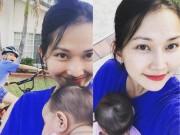 Làng sao - Kim Hiền hạnh phúc vui đùa cùng hai con