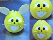 Bếp Eva - Tạo hình thỏ đáng yêu từ bưởi cho bé dịp Tết Trung thu