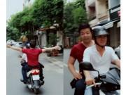 """Làng sao - Quang Lê lại """"quên"""" mũ bảo hiểm khi đi xe máy"""
