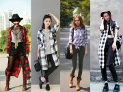 Thời trang - Giữa thu, quyến rũ với chiếc áo sơ mi cũ