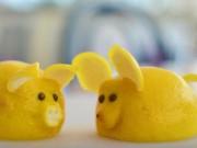Bếp Eva - Tạo hình chú chuột bằng quả chanh vàng