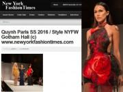 """Thời trang - Quỳnh Paris lọt """"mắt xanh"""" của các tạp chí lớn nhất nước Mỹ"""