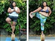 Làm đẹp - Ngỡ ngàng: Nàng béo hơn 100kg tập yoga điêu luyện