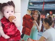 Ảnh thiên thần Cadie ăn bánh trung thu gây  & quot;sốt & quot;