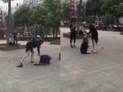 Tin tức - Xôn xao clip vợ đánh đập nhân tình của chồng giữa phố