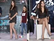 Làng sao - Han Chae Young ngượng ngùng vì váy quá ngắn