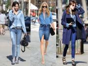 Thời trang - 3 cách mặc denim tuyệt đẹp cho nữ công sở ngày nắng hanh