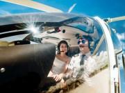 Eva Yêu - Cặp đôi chơi trội thuê phi cơ chụp ảnh cưới