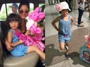 Con gái Thúy Nga nghịch ngợm khi cùng mẹ trở về Việt Nam