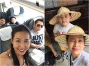 Làng sao - Dương Mỹ Linh đưa 3 con Bằng Kiều về Việt Nam du lịch